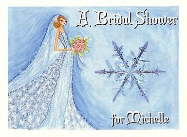 Bridal Shower Invitations Winter Snowflake Theme