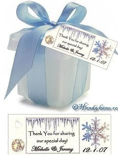 Favors Favor Tag Winter Snowflake Theme