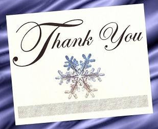 Thank You Cards Winter Snowflake Theme Wedding