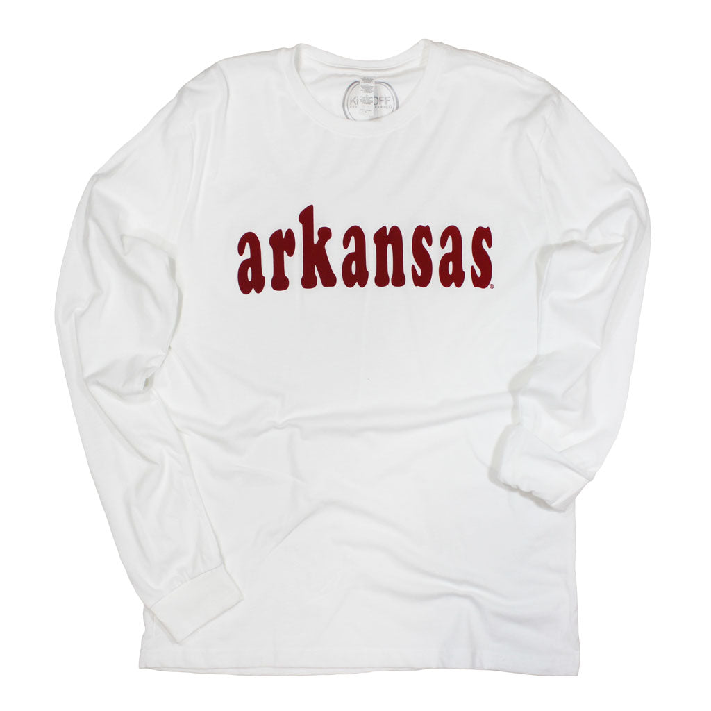 Arkansas Varsity Club Long Sleeve Sueded Tee - Kickoff Co.
