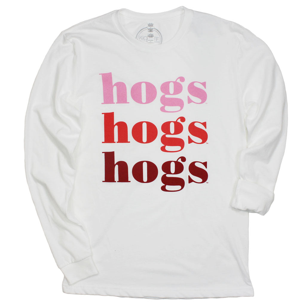 Hogs On Repeat Long Sleeve Sueded Tee