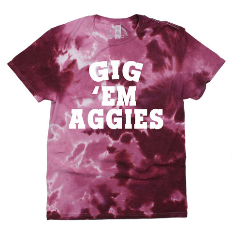 Gig 'Em Aggies Dream On Tie Dye Tee