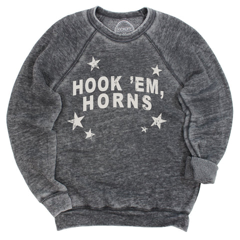 Hook 'Em Horns All-Star Acid Wash Pullover