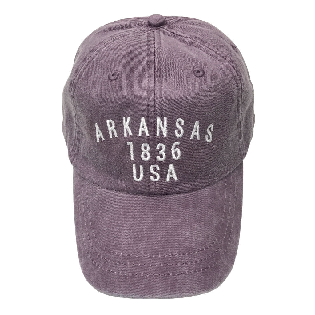Arkansas 1836 Hat: Plum