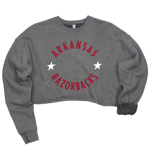 Arkansas Winner's Circle Crop Pullover