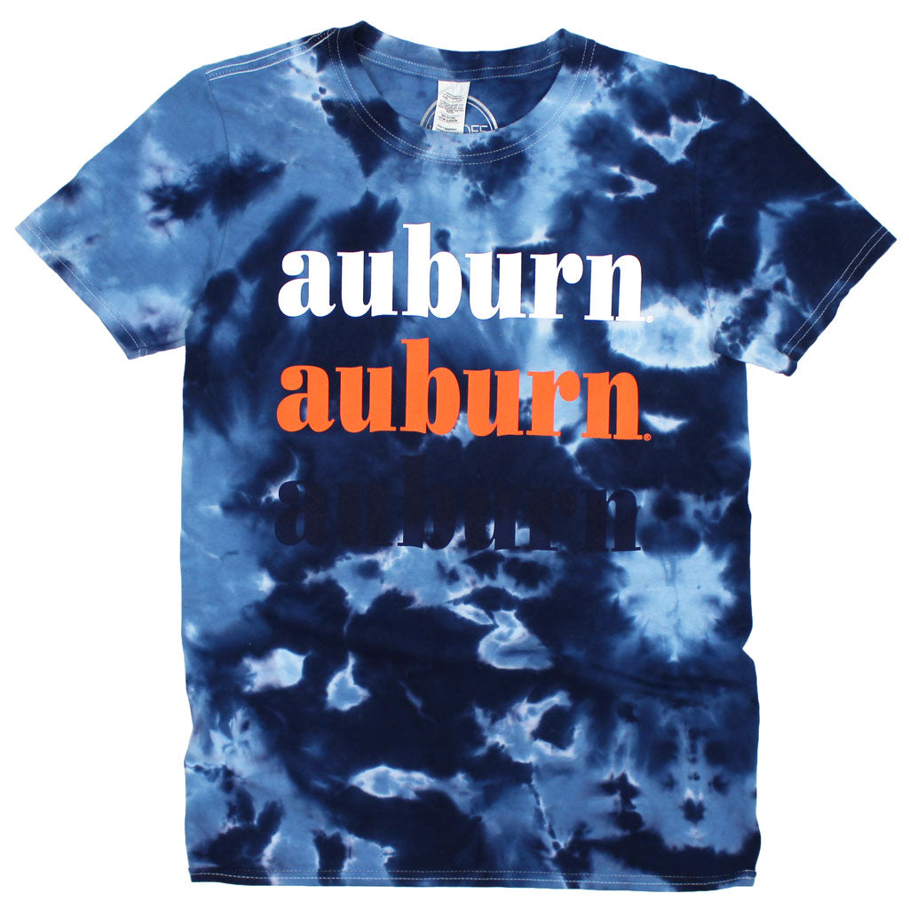 Auburn On Repeat Tie Dye Tee