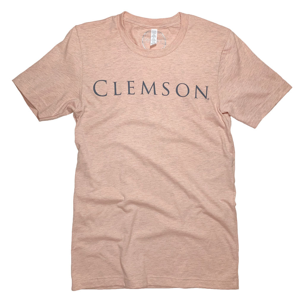 Clemson Simply Tee: Peach - Kickoff Co.