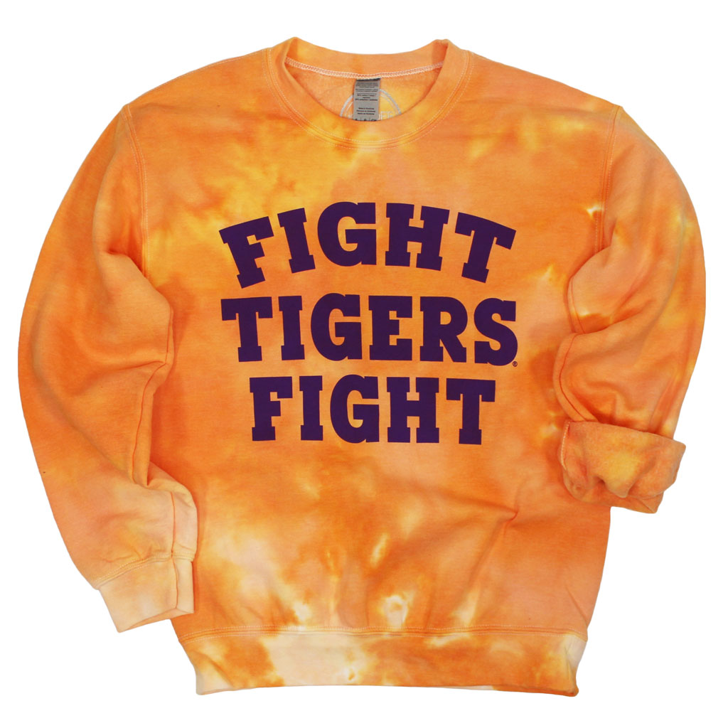 Fight Tigers Fight Dream On Tie Dye Pullover