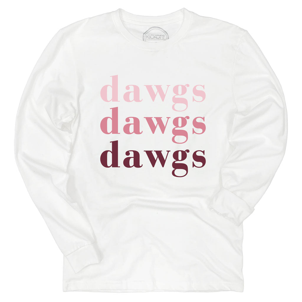 Dawgs On Repeat Long Sleeve Sueded Tee