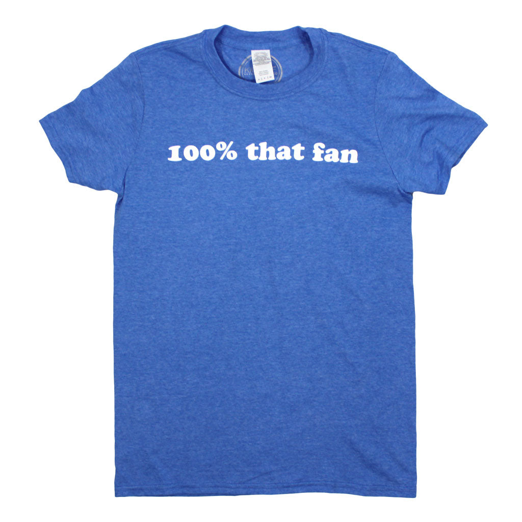 100% That Fan Tee: Blue - Kickoff Co.