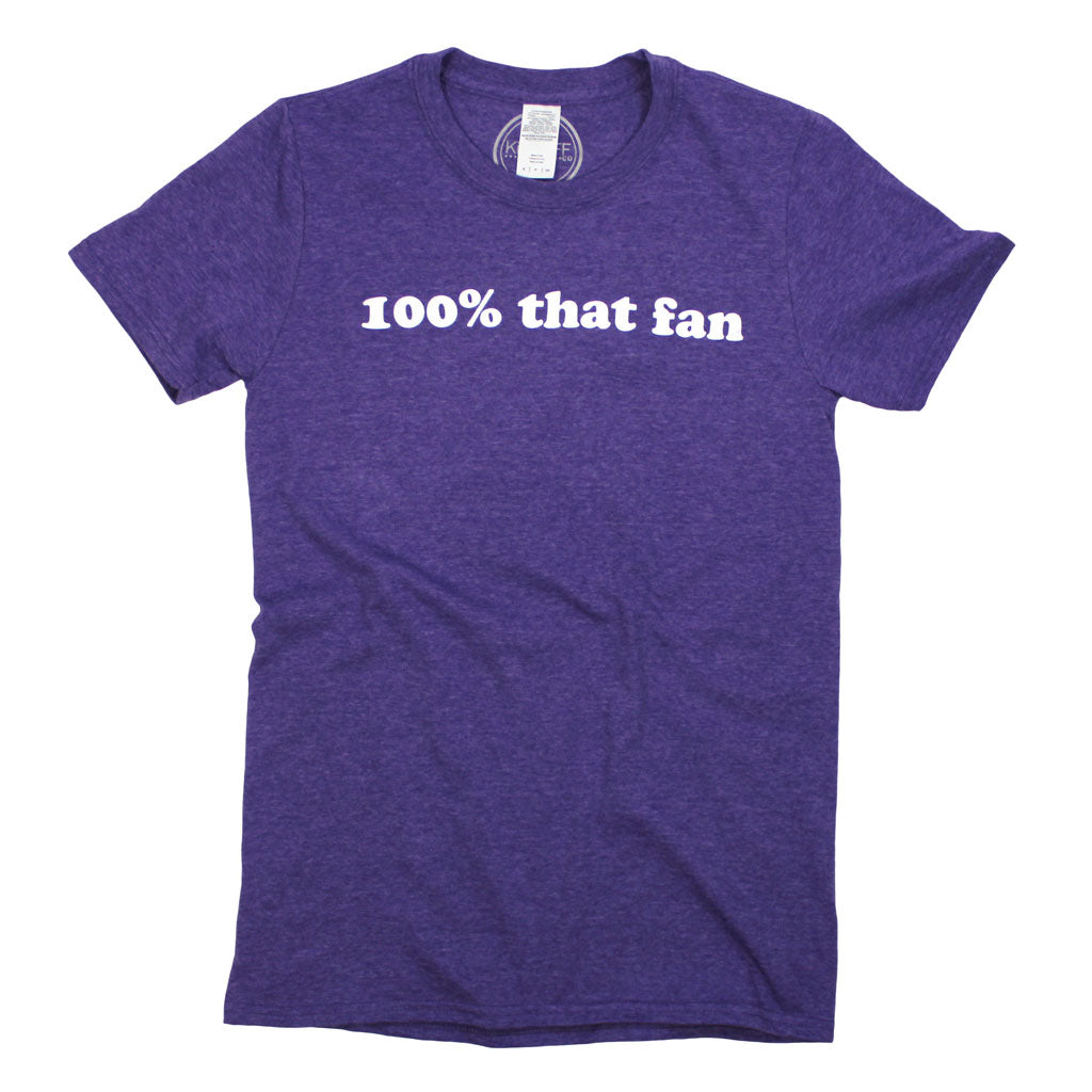 100% That Fan Tee: Purple - Kickoff Co.