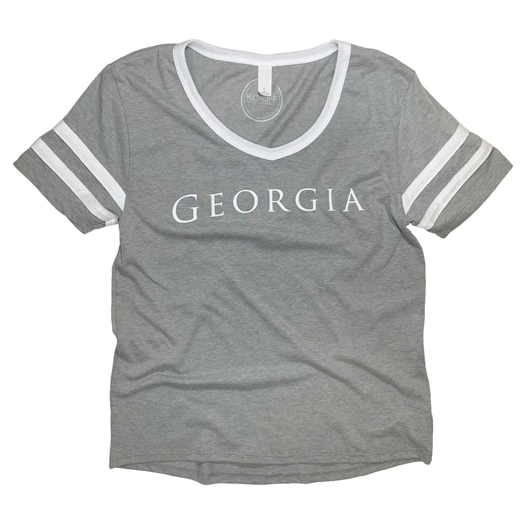 Georgia Simply Jersey Tee - Kickoff Co.