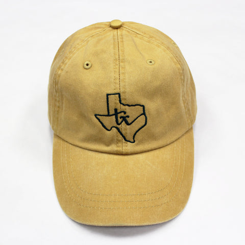 Texas State Loop Hat: Mustard