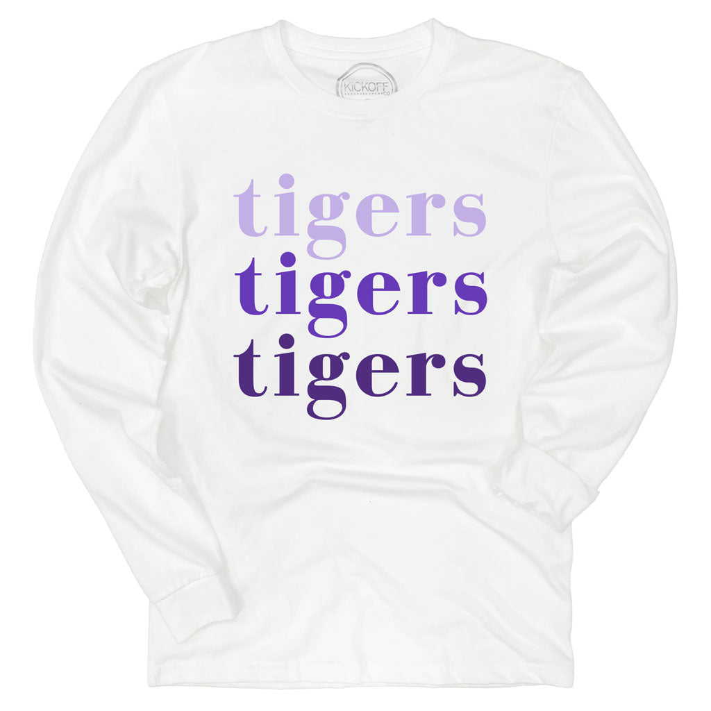 LSU Tigers On Repeat Long Sleeve Sueded Tee