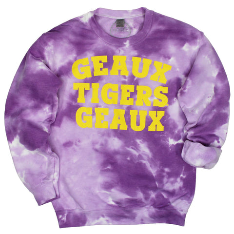 Geaux Tigers Geaux Dream On Tie Dye Pullover