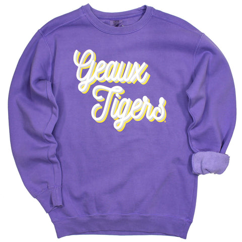 Geaux Tigers Fall Fling Pullover
