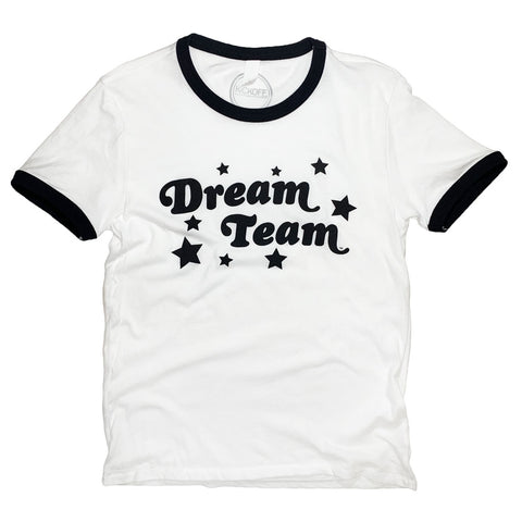 Dream Team Ringer Tee: Black - Kickoff Co.
