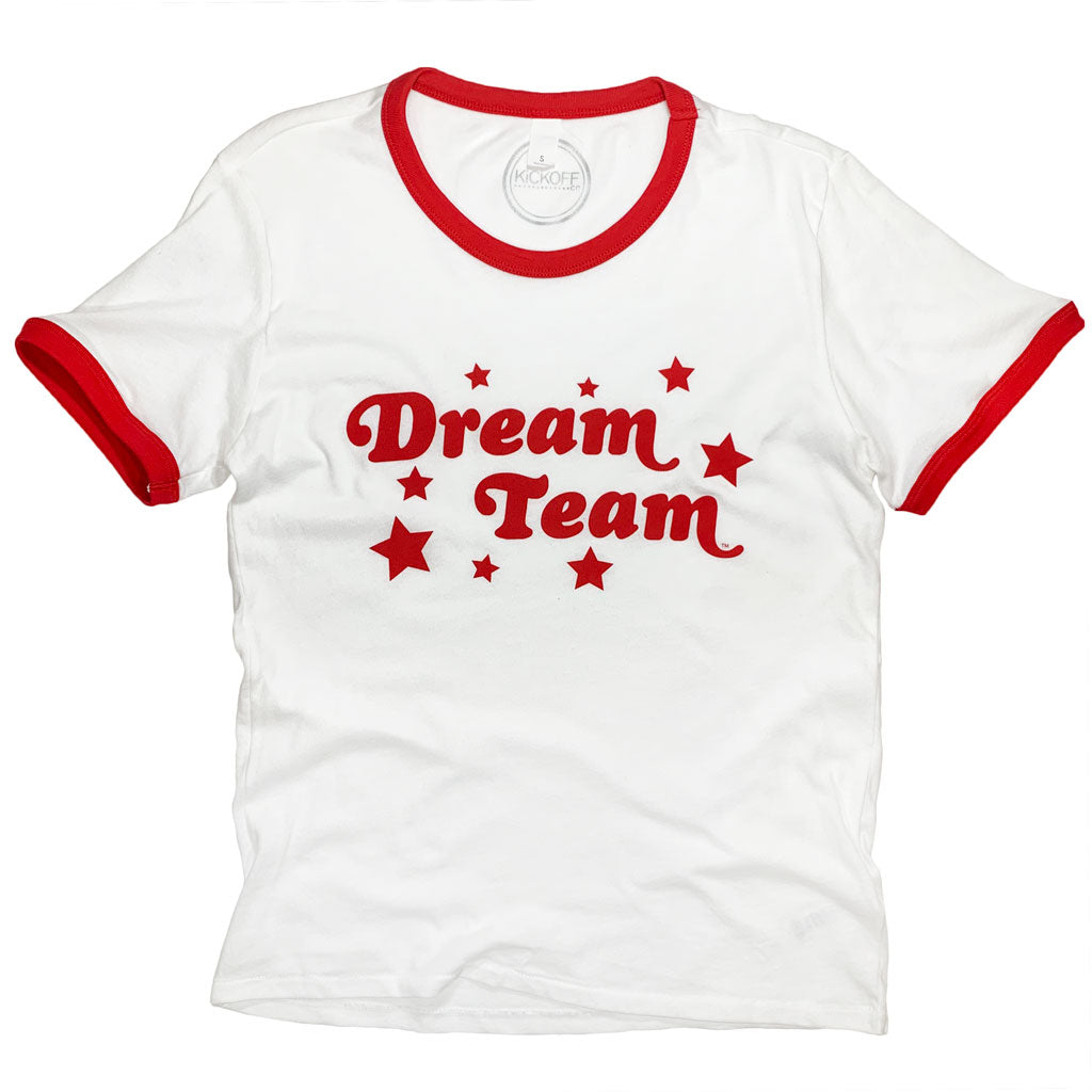 Dream Team Ringer Tee: Red - Kickoff Co.