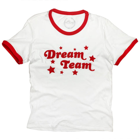 Dream Team Ringer Tee: Red
