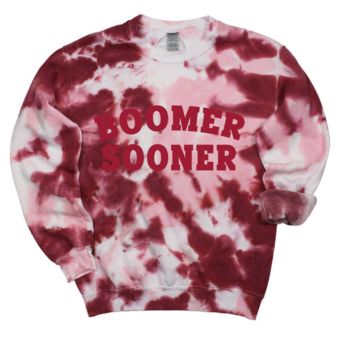 Boomer Sooner Dream On Tie Dye Pullover