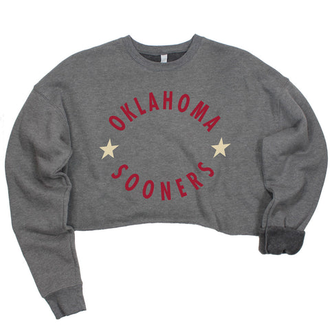 Oklahoma Winner's Circle Crop Pullover