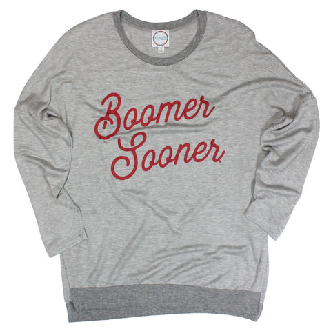 Boomer Sooner Spirit Side Slit Pullover - Kickoff Co.