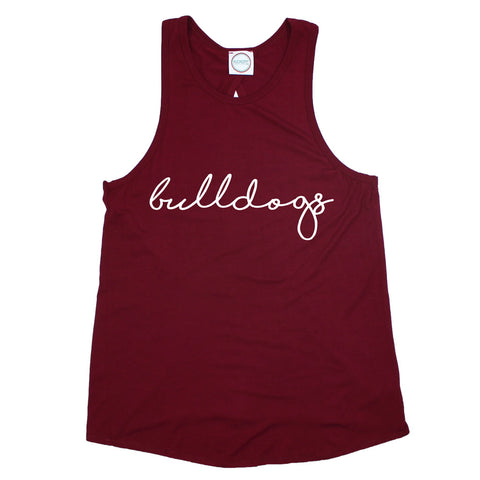 Bulldogs Pride Script Open Back Tank