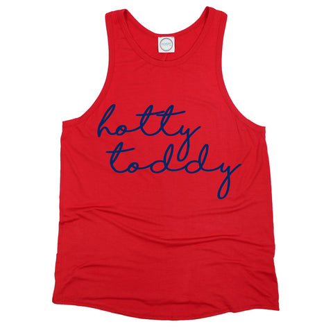 Hotty Toddy Pride Script Open Back Tank