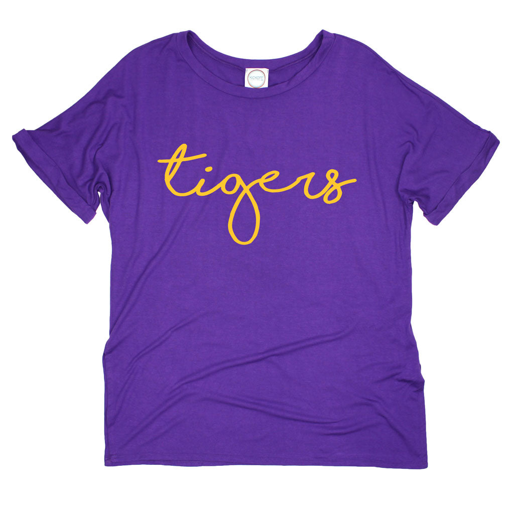 LSU Tigers Pride Script Side Slit Tee