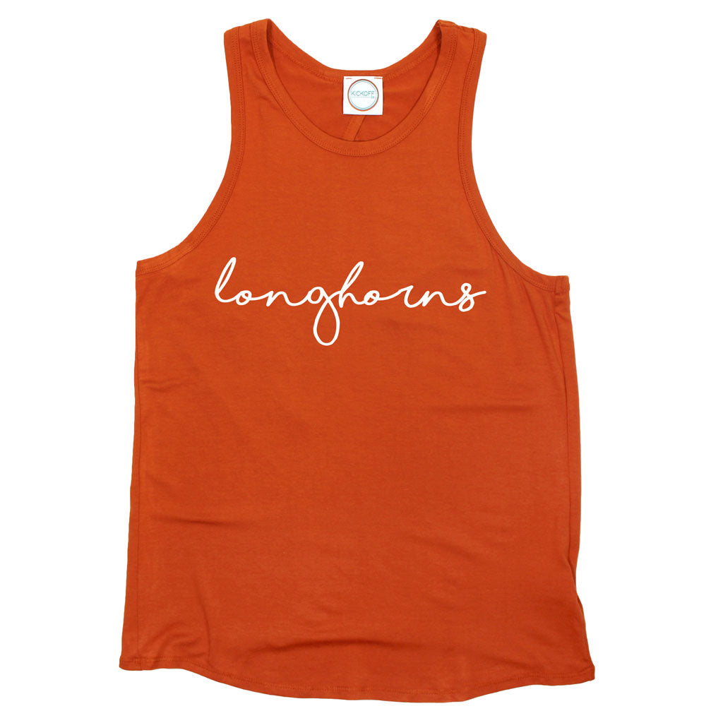 Longhorns Pride Script Open Back Tank