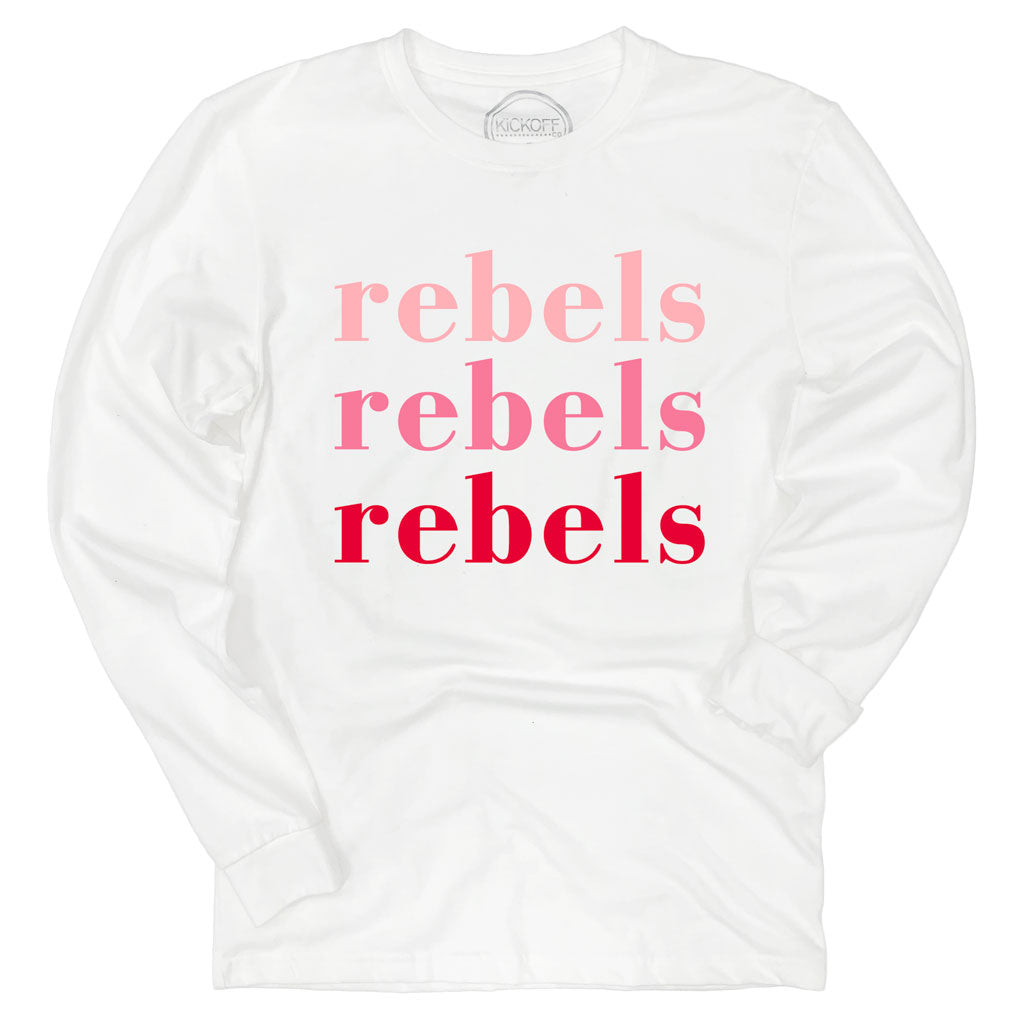 Rebels On Repeat Long Sleeve Sueded Tee