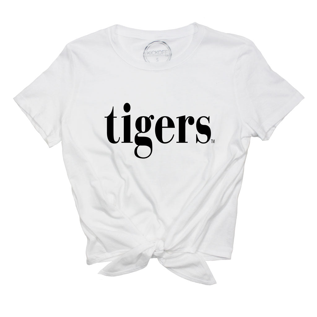 Tigers Sideline Front Knot Tee