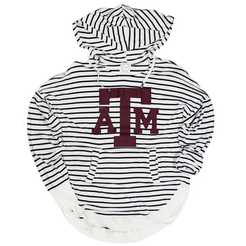 Texas A&M Victory Striped Hoodie - Kickoff Co.