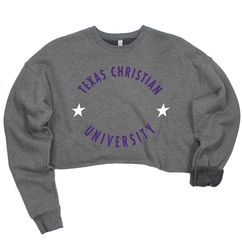 TCU Winner's Circle Crop Pullover