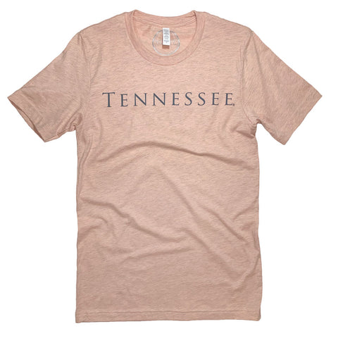 Tennessee Simply Tee: Peach - Kickoff Co.