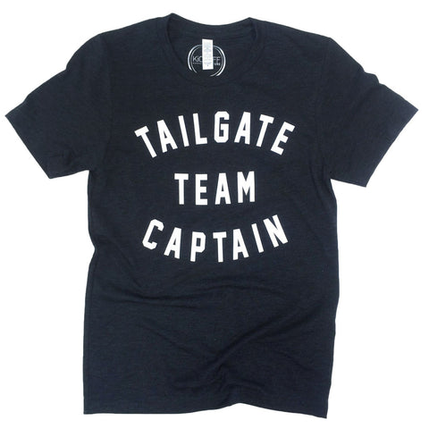 Tailgate Team Captain Triblend Unisex Tee: Charcoal-Black/White
