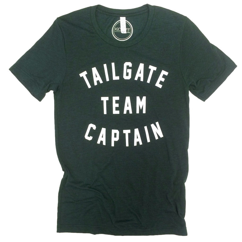Tailgate Team Captain Unisex Tee: Emerald/White
