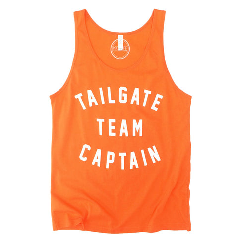Tailgate Team Captain Tank: Orange/White