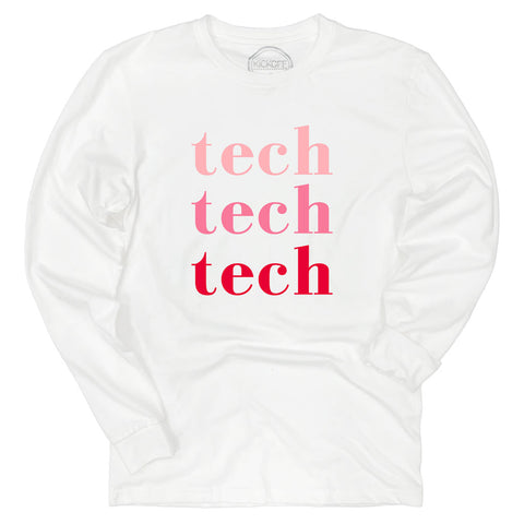 Tech On Repeat Long Sleeve Sueded Tee