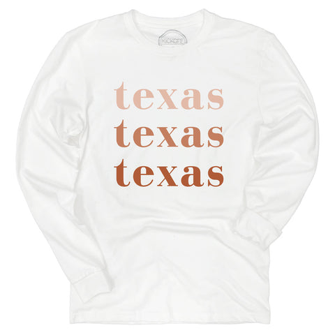 Texas On Repeat Long Sleeve Sueded Tee