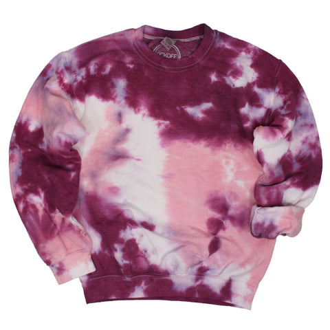 Tie Dye Pullover: Grape