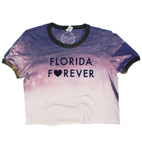 Florida Forever Bleached Ringer Tee - Kickoff Co.