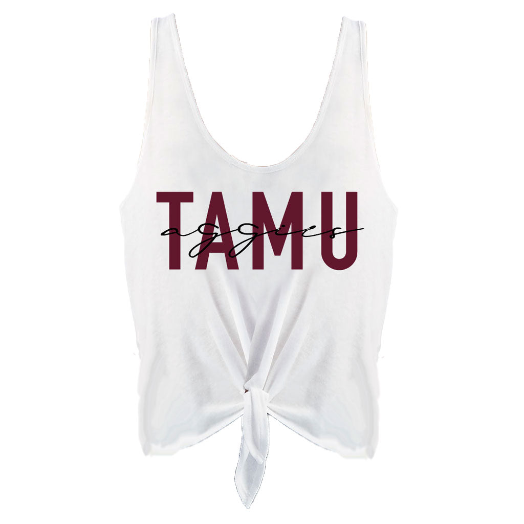 TAMU Aggies Iconic High-Waisted Tie Tank - Kickoff Co.