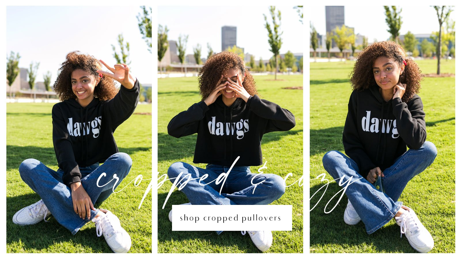 dawgs cropped pullover
