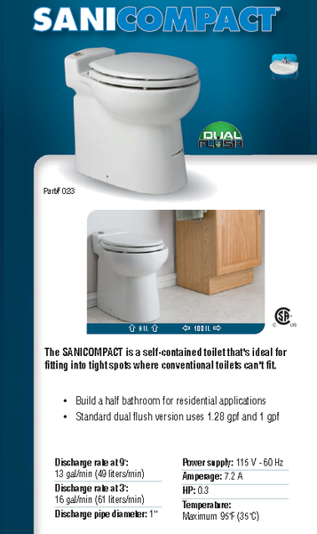 SaniFlo SaniCOMPACT Comparison Brochure