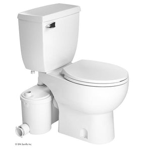 Saniflo SaniBEST Pro Macerating Upflush Toilet with Alarm & Descaler