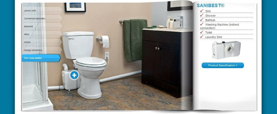 Upflushtoilet Com Saniflo Products
