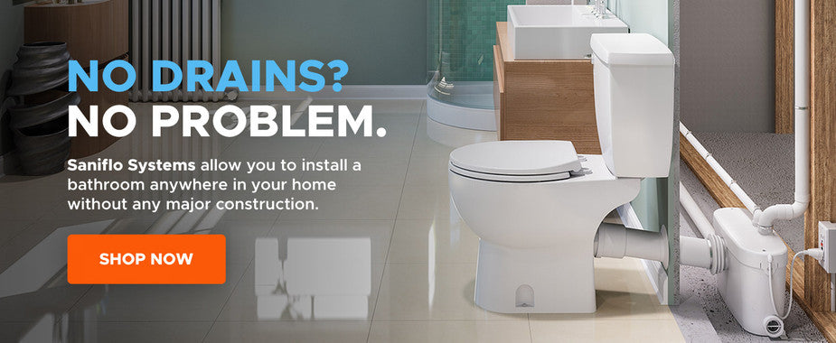 Upflush Toilets Pumped Toilet Systems - Cost to install a bathroom in basement