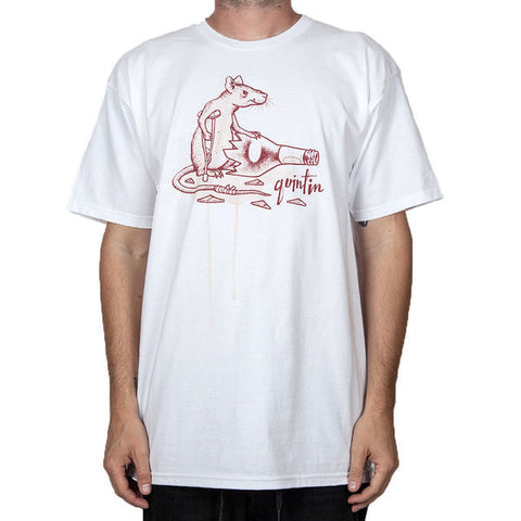 Quintin Gutter Rat T-Shirt White