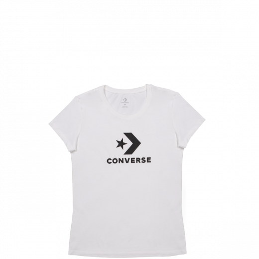 Converse Women's Star Chevron Short Sleeve T Shirt White 10009152-A01 Famous Rock Shop Newcastle 2300 NSW Australia